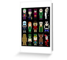 8-Bit Super Heroes: ROGUES! Greeting Card