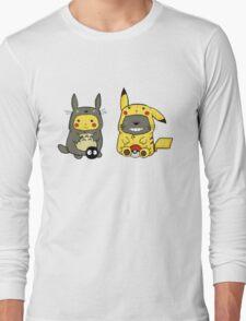 totoro and pikachu Long Sleeve T-Shirt