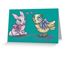 Springtime Friends Greeting Card