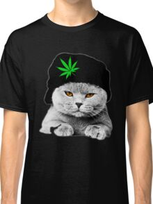 Weed Cat Hat Classic T-Shirt