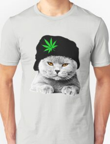 Weed Cat Hat Unisex T-Shirt