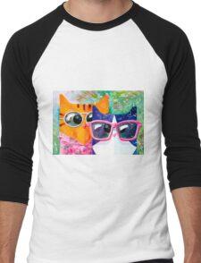 Cats on the beach Men's Baseball ¾ T-Shirt