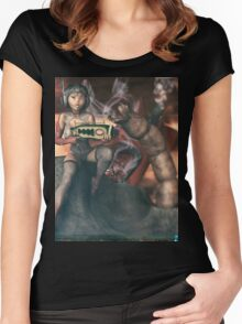 Vintage Sci-Fi 3 Women's Fitted Scoop T-Shirt