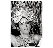 Balinese Dancer (bw) Poster