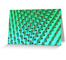 what the hey, it's green matrix day Greeting Card