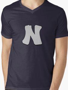 Letter N Mens V-Neck T-Shirt