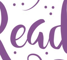 Reader (word in purple) Sticker