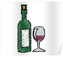 Wine Red Poster