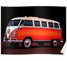 Volkswagen T1 Samba Painting Poster