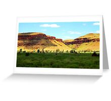 Shadow on Chichesters - Pilbara, Western Australia Greeting Card