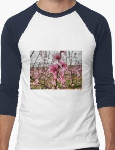 Peach Blossoms Men's Baseball ¾ T-Shirt