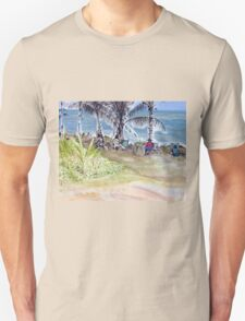 Artists by the Sea, Flying Fish Point  Unisex T-Shirt
