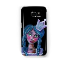 whimsical blue hair princess with crown Samsung Galaxy Case/Skin