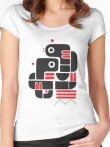 Two lovers, one bench Women's Fitted Scoop T-Shirt