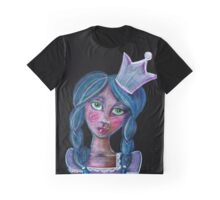 whimsical blue hair princess with crown Graphic T-Shirt
