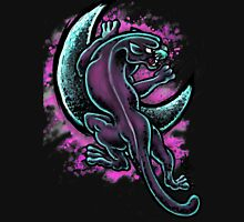 Space Purple Panther Moon Womens Fitted T-Shirt