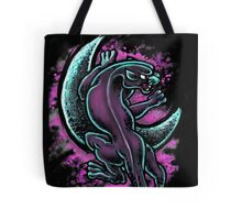 Space Purple Panther Moon Tote Bag