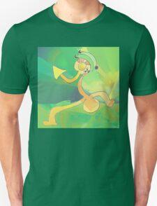 Dancing Gardener Abstract Art Green & Gold T-Shirt