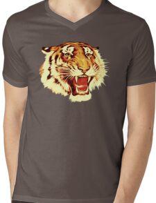 Tiger Circus Mens V-Neck T-Shirt
