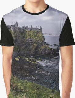 Dunluce Coastal View Graphic T-Shirt