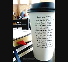 Writing on Coffee - Born of the Earth...but Made for More Zipped Hoodie