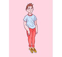 Pastel Boy Digital Art Photographic Print