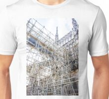 andaimes na Catedral.  Unisex T-Shirt