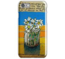 Daisies in a jar: the first rainy day iPhone Case/Skin