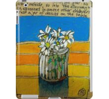 Daisies in a jar: the first rainy day iPad Case/Skin