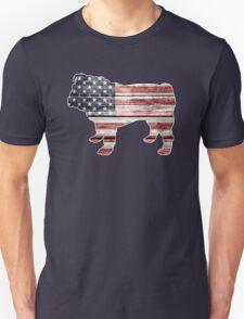 Patriotic Bulldog, American Flag T-Shirt