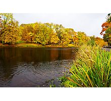 lake in the city park in autumn Photographic Print