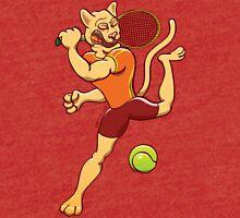 Brave puma smashing a tennis ball Tri-blend T-Shirt