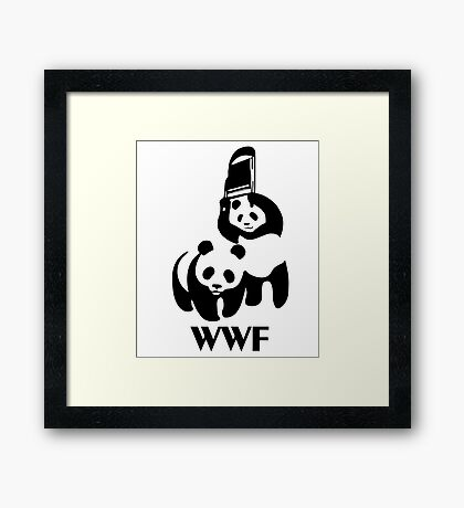 WWF Parody Panda Framed Print