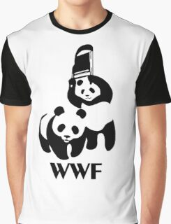 WWF Parody Panda Graphic T-Shirt