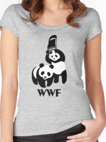 WWF Parody Panda Women's Fitted Scoop T-Shirt