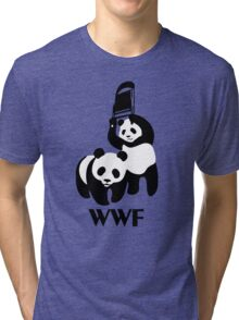 WWF Parody Panda Tri-blend T-Shirt