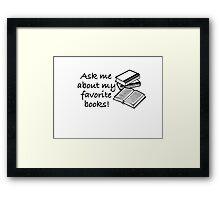 Favorite Books Framed Print