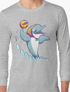 Cool dolphin playing water polo Long Sleeve T-Shirt