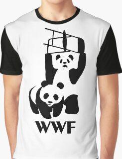 WWF Parody Panda - Tshirt Graphic T-Shirt