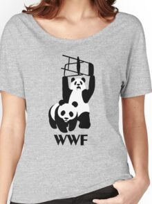 WWF Parody Panda - Tshirt Women's Relaxed Fit T-Shirt