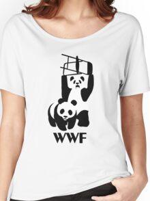 WWF Parody Panda - Tshirt Women's Relaxed Fit T-Shirt