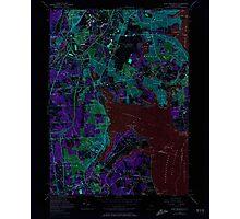 USGS TOPO Map Rhode Island RI East Greenwich 353282 1957 24000 Inverted Photographic Print
