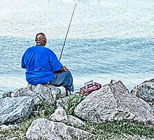Fishing From the Rocky Shore by Susan Werby