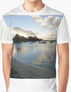 Beach in Mauritius Graphic T-Shirt
