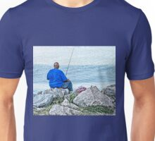 Fishing From the Rocky Shore Unisex T-Shirt