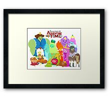 Princesses of Adventure Time! Framed Print