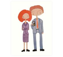 scully & mulder Art Print