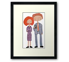 scully & mulder Framed Print