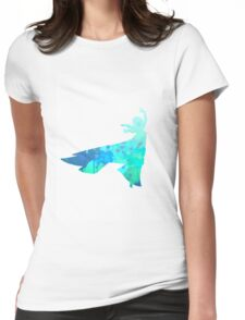 Princess Inspired Silhouette Womens Fitted T-Shirt