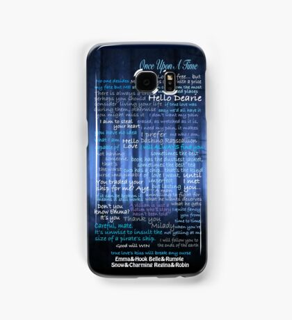 Once Upon A Time Quotes Samsung Galaxy Case/Skin
